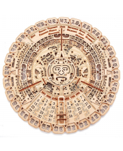 Механическая сборная модель Календарь Майя 73 детали Wood Trick