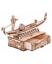 Механический 3D-пазл из дерева Шкатулка Гондола 82 детали Wood Trick