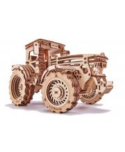 Механический 3D-пазл из дерева Трактор 401 деталь Wood Trick