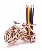 Механический 3D-пазл из дерева Велосипед-визитница 89 деталей Wood Trick