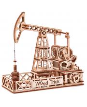 Механический 3D-пазл из дерева Нефтяная Вышка 120 деталей Wood Trick
