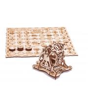 Механический 3D-пазл из дерева Колесо Фортуны с настольной игрой 53 детали Wood Trick