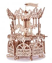 Механический 3D-пазл из дерева Карусель 197 деталей Wood Trick