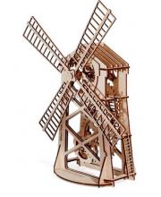 Механический 3D-пазл из дерева Мельница 76 деталей Wood Trick