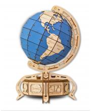 Конструктор деревянный 3D Глобус голубой 393 детали Eco Wood Art