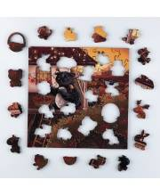 Деревянный пазл-головоломка Собиратель огненной рябины 60 деталей IQ Gears