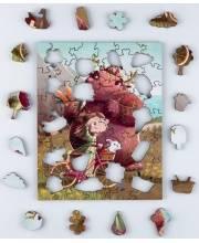Деревянный пазл-головоломка Весенний пикник 61 деталь IQ Gears