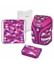 Ранец Pink Cubes Herlitz
