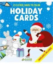 25 новогодних открыток-раскрасок Издательство Clever