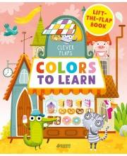 Книга English Books Colors To Learn Учим цвета Издательство Clever