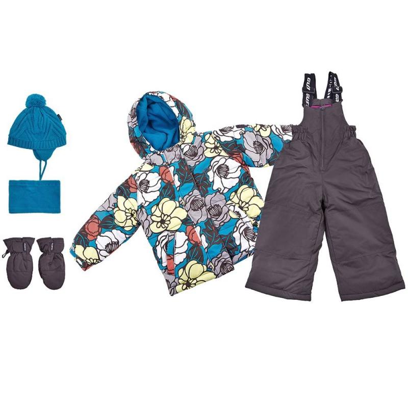 КомплектКомплект куртка + полукомбинезон + шапочка + варежки + манишка голубогоцвета марки Gusti серии Boutique для девочек.<br>Теплый комплект позволит девочкев полной мере наслаждаться прогулками и спортом на свежем зимнем воздухе. Набор не сковывает движений благодаря практичному крою. В основе изделий – плотная водонепроницаемая ткань (5000 мм), дополненная мембраной, которая позволяет коже дышать, но не дает ребенку замерзнуть. Курточка из комплекта утеплена флисовой подкладкой и практичными резинками, которые защищают руки, шею и спинку ребенка от переохлаждения. Куртка дополнена удобным капюшоном. Также куртка имеет множество полезных деталей: внешние и внутренние карманы, специальную застежку, которая защищает шею от холода, защитную юбку, надежные манжеты с клапаном, защиту от расстегивания молнии и многое другое.<br>Полукомбинезон застегивается с помощью молнии, на талии хорошо фиксируется и прилегает к телу, не пуская холод. Это изделие с регулируемым лямками подшито износостойкими элементами - ребенок может спокойно заниматься активными видами спорта, не боясь падений. Комплект выполнен в яркой модной расцветке. Такой наряд легко прослужит девочкене один сезон.<br>Состав:верх - полиэстер,подкладка - флис,утеплитель - полифилл.Легкие загрязнения удаляются влажной губкой.<br><br>Размер: 5 лет<br>Цвет: Голубой<br>Рост: 110<br>Пол: Для девочки<br>Артикул: 633418<br>Сезон: Осень/Зима<br>Состав: 100% Полиэстер<br>Состав подкладки: 100% Полиэстер<br>Бренд: Канада<br>Наполнитель: 100% Полиэстер<br>Покрытие: Полиуретан<br>Температура: до -30°