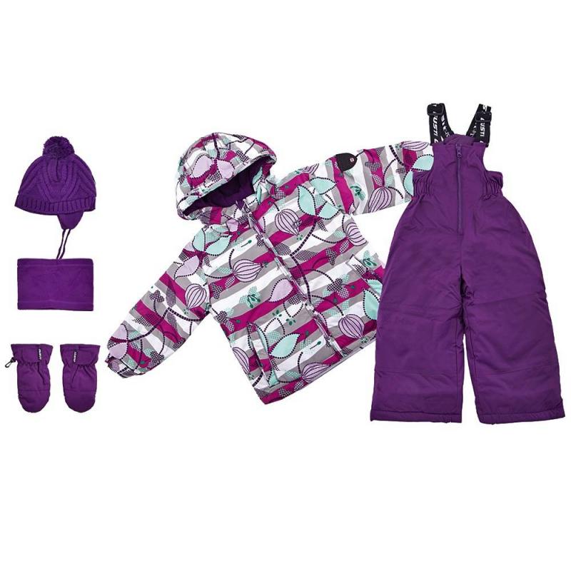 КомплектКомплект куртка + полукомбинезон + шапочка + варежки + манишка фиолетового цвета марки Gusti серииBoutique для девочек.<br>Теплый комплект позволит девочкев полной мере наслаждаться прогулками и спортом на свежем зимнем воздухе. Набор не сковывает движений благодаря практичному крою. В основе изделий – плотная водонепроницаемая ткань (5000 мм), дополненная мембраной, которая позволяет коже дышать, но не дает ребенку замерзнуть. Курточка из комплекта утеплена флисовой подкладкой и практичными резинками, которые защищают руки, шею и спинку ребенка от переохлаждения. Куртка дополнена удобным капюшоном. Также куртка имеет множество полезных деталей: внешние и внутренние карманы, специальную застежку, которая защищает шею от холода, надежные манжеты с клапаном, защиту от расстегивания молнии, защитную юбку и многое другое.<br>Полукомбинезон застегивается с помощью молнии, на талии хорошо фиксируется и прилегает к телу, не пуская холод. Это изделие с регулируемым лямками подшито износостойкими элементами - ребенок может спокойно заниматься активными видами спорта, не боясь падений. Комплект выполнен в яркой модной расцветке. Такой наряд легко прослужит девочкене один сезон.<br>Состав:верх - полиэстер,подкладка - флис,утеплитель - полифилл.Легкие загрязнения удаляются влажной губкой.<br><br>Размер: 10 лет<br>Цвет: Фиолетовый<br>Рост: 140<br>Пол: Для девочки<br>Артикул: 633423<br>Сезон: Осень/Зима<br>Состав: 100% Полиэстер<br>Состав подкладки: 100% Полиэстер<br>Бренд: Канада<br>Наполнитель: 100% Полиэстер<br>Покрытие: Полиуретан<br>Температура: до -30°