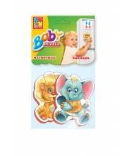 Мягкие магнитные Baby puzzle Зоопарк