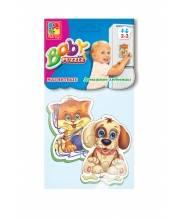 Мягкие магнитные Baby puzzle Домашние любимцы
