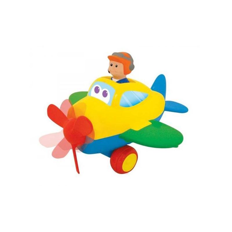 СамолетикИгрушкаСамолетик марки Kiddieland.<br>В кабине – фигурка пилота. Нажмите на нее – заиграет веселая музыка, лопасти самолета начнут крутиться и самолет поедет вперед. Пилота можно вынуть и играть с ним отдельно. Окрашен в яркие веселые цвета, которые привлекут внимание малыша. Игрушка будет способствовать развитию: цветовосприятия, мелкой моторики и воображения. Все детали самолета без острых углов, сделаны из качественной, нетоксичной пластмассы. Это абсолютно безопасная для ребенка игрушка.<br><br>Возраст от: 12 месяцев<br>Пол: Не указан<br>Артикул: 634541<br>Бренд: Китай<br>Размер: от 12 месяцев