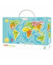 Пазл Карта мира 100 деталей