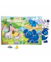 Игры с наклейками и глазками Зоопарк