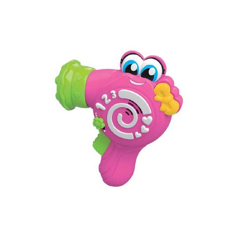 Фен КеллиФен Келли марки Clementoni.<br>Интересная и занятная развивающая игрушка для девочек. На боку фена нарисованы цифры. Малышка сможет запомнить, как они выглядят, а потом прослушать названия цифр. Кроме того, фен проигрывает песенки, которые можно выучить с малышкой и она будет их напевать. А еще, фен выдувает воздух, которым можно высушить волосы кукле. В рабочем процессе, игрушка издает забавные звуки при нажатии на кнопки. Играя, ребенок развивает мелкую моторику рук, речь и память. Игрушка выполнена из качественного материала, абсолютно безопасна для ребенка.Питание: батарейки 3 шт. типа LR44.<br><br>Возраст от: 12 месяцев<br>Пол: Для девочки<br>Артикул: 629604<br>Бренд: Италия<br>Размер: от 12 месяцев