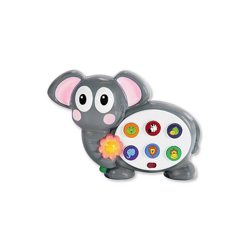 Развивающая игрушка Веселый СлоникРазвивающая игрушка Веселый Слоник маркиLearning Journey.<br>Самые маленькие дети могут узнать о природе намного больше с помощью развивающих игрушек. Компания Learning Journey представляет забавного слоненка, который улыбается и ждет своих новых друзей. На теле слоника находится 6 цветных кнопок. Каждая из них издает свой уникальный звук дикой природы. Для того чтобы изучение звуков давалось ему проще, каждая кнопка украшена соответствующего изображением животного, а рядом с игровым полем находится светящийся цветочек.<br><br>Возраст от: 12 месяцев<br>Пол: Не указан<br>Артикул: 633280<br>Бренд: США<br>Размер: от 12 месяцев