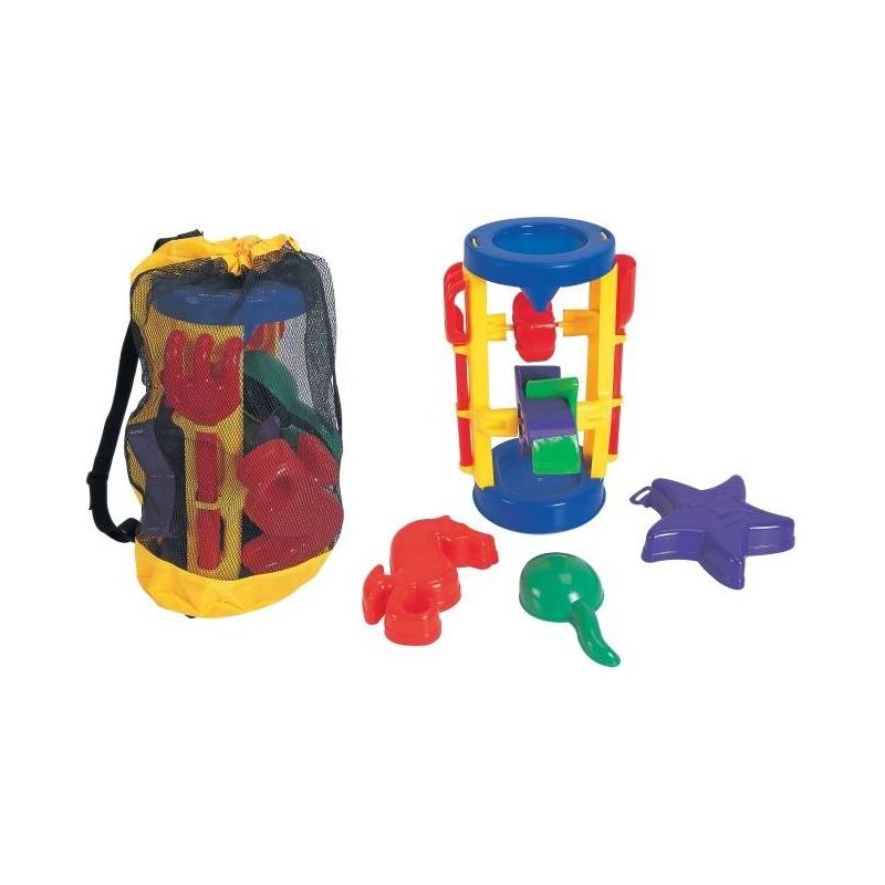 Набор в песочницу Мельница 5 пр.Песочный набор Мельница из 5 предметов в сетке от Jiahe Plasticsпоможет вашему малышу весело провести время в песочнице.Яркие цвета порадуют глаз ребенка. Игра с наборомтакже способствует социализации ребенка, так как играть можно не только одному.Игрушка выполнена из нетоксичных материалов высокого качества.<br><br>Возраст от: 2 года<br>Пол: Не указан<br>Артикул: 630594<br>Страна производитель: Китай<br>Бренд: Китай<br>Размер: от 2 лет