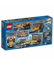 Конструктор City Great Vehicles Грузовик для перевозки драгстера LEGO