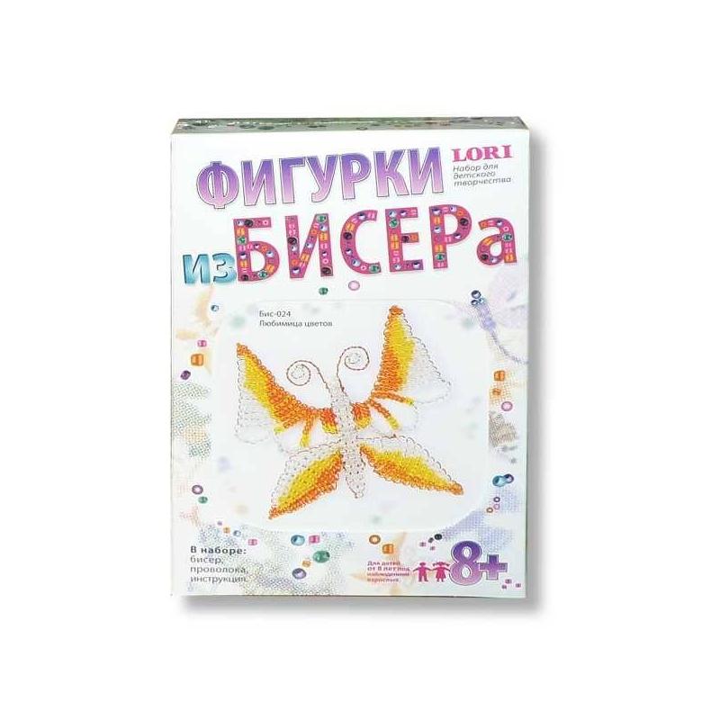 Lori Фигурки из бисера Любимица цветов всё для лепки lori пластилин классика 16 цветов