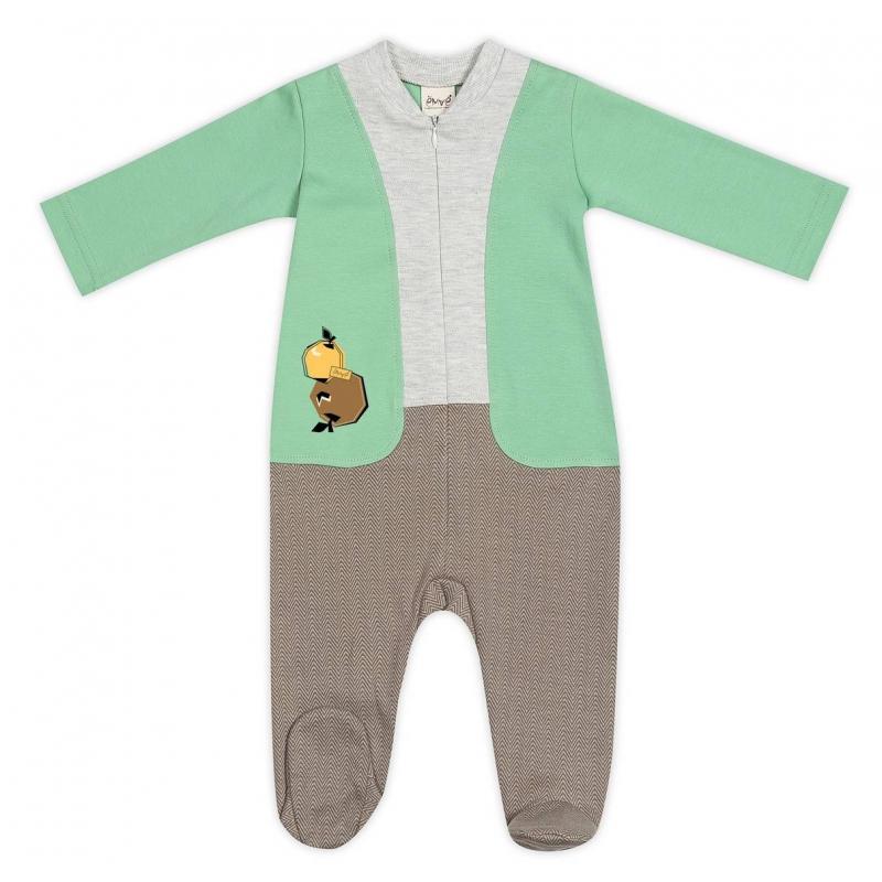 КомбинезонКомбинезон серо-зеленого цвета марки Ёмаё для мальчиков.<br>Комбинезон выполнен из стопроцентного хлопка, имеет длинные рукава и закрытые ножки, застегивается по всей длине спереди на молнию. Комбинезон по крою имитирует штанишки, кофточку и жилет. Спереди комбинезон украшен принтом с изображением яблок.<br><br>Размер: 12 месяцев<br>Цвет: Зеленый<br>Рост: 80<br>Пол: Для мальчика<br>Артикул: 635794<br>Страна производитель: Россия<br>Сезон: Всесезонный<br>Состав: 100% Хлопок<br>Бренд: Россия<br>Вид застежки: Молния