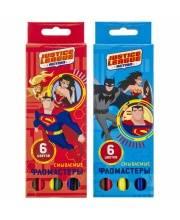 Набор фломастеров DC Comics 6 цв ACTION!