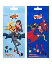 Карандаши цветные DC Comics 12 цв в ассортименте ACTION!