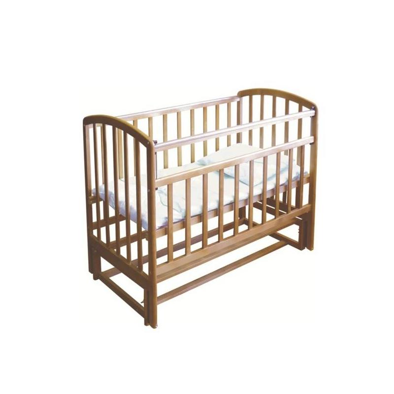 Кровать детскаяКровать детскаямарки Фея, цвет медовый.<br>Детская кровать ФЕЯ 312 обеспечит комфортный и здоровый сон малыша с самого рождения. Изготовлена из натуральной древесины (массив березы), безопасна и удобна в использовании. Высота дна фиксируется в двух положениях. Передняя планка опускается одной рукой. Приятная особенность этой модели - наличие беззвучного маятникового механизма продольного качания.<br>Конструкция кроватки выполнена таким образом, чтобы обезопасить от случайного выпадения даже подросшего ребенка. Механизм «Автостенка» позволяет опустить переднюю стенку кроватки одной рукой.Полезная особенность модели детской кроватки ФЕЯ 312 – наличие маятникового механизма продольного качания. Маятник движется плавно и беззвучно. При необходимости можно отсоединить механизм качания и поставить кроватку на ножки.<br>Характеристики:<br>-2 положения высоты дна;<br>- Передняя планка опускается одной рукой (механизм «Автостенка»);<br>- Маятниковый механизм продольного качания;<br>- Накладки на бортики ПВХ.<br>Габариты (ДхШхВ): 125x75x100 см.<br>Матрас для кроватки приобретается отдельно.<br><br>Цвет: Бежевый<br>Возраст от: 0 месяцев<br>Пол: Не указан<br>Артикул: 633501<br>Страна производитель: Россия<br>Бренд: Россия<br>Размер: от 0 месяцев