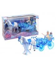 Карета с ходячей лошадкой и куклой Girl's Club