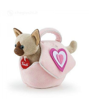 Мягкая игрушка сиамский котёнок в сумочке Trudi