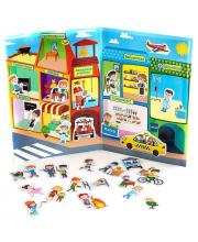 Магнитная книга Город Профессий База игрушек