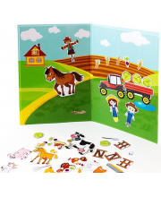 Магнитная книга Ферма База игрушек
