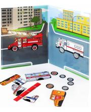 Магнитная книга Спецмашинки База игрушек