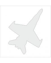 Светоотражающая термоаппликация самолет