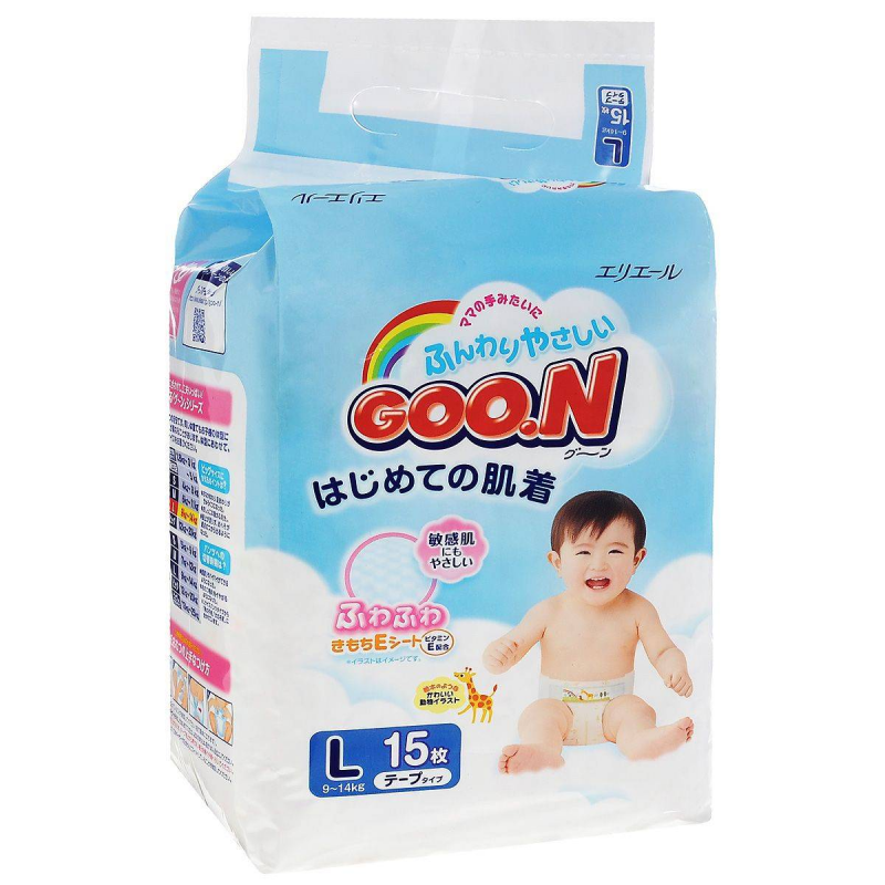 Goon Подгузники Mini Pack 9-14 кг 15 шт. goon подгузники l 9 14 кг