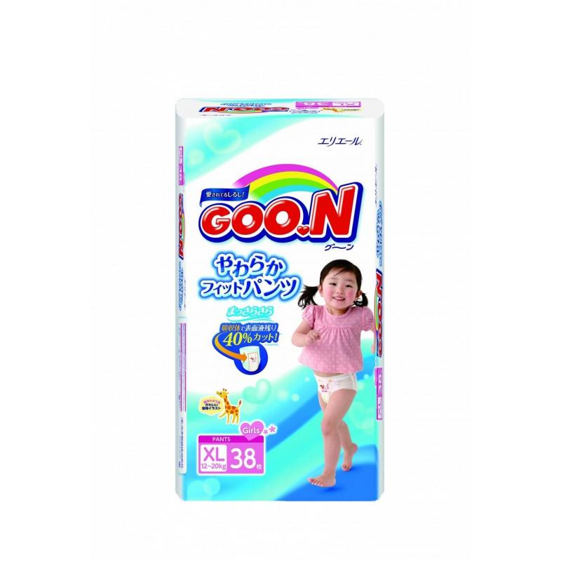 Подгузники-трусики для девочек 12-20 кг 38 шт. (Goon)