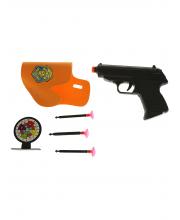Пистолет с присосками и мишенью
