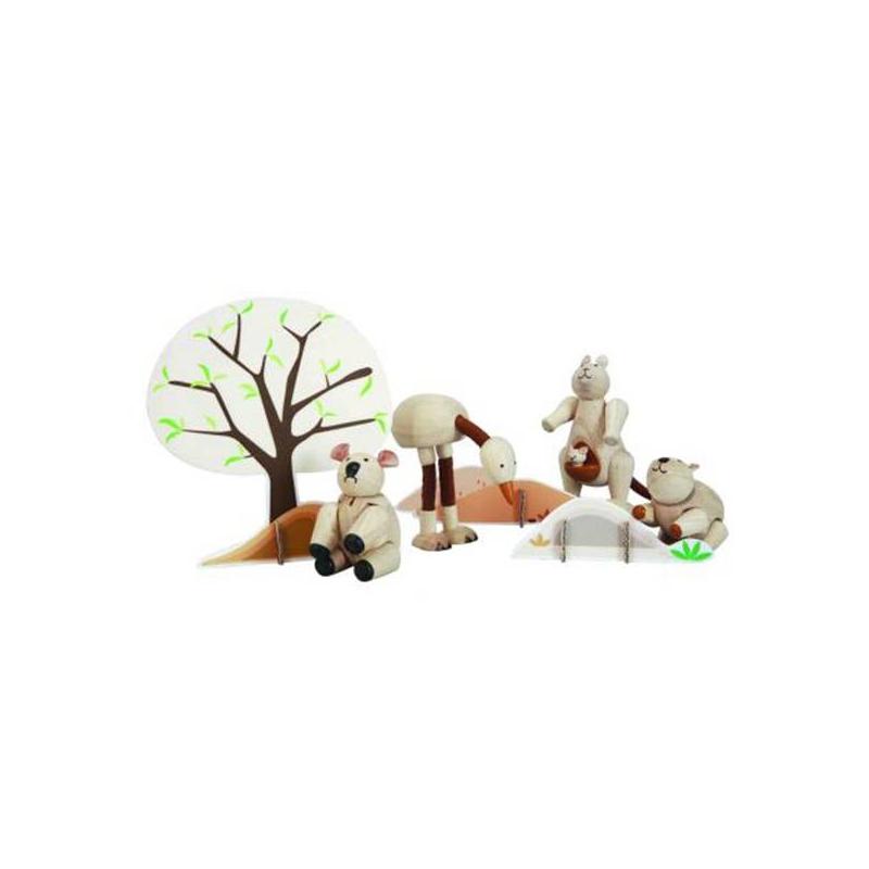 Набор Животные АвстралииНабор Животные Австралии маркиPlan Toys.<br>Таиландская фирма Plan Toys производит качественные игрушки, которые не только способствуют быстрому и гармоничному развитию ребенка, но и доставляют ему много радости. Все игрушки Plan Toys производятся из качественных нетоксичных материалов, безопасных для ребенка.<br>С этим набором игрушек ваш малыш будет не только весело проводить время, но и узнавать много нового о мире животных.<br><br>Возраст от: 3 года<br>Пол: Не указан<br>Артикул: 634691<br>Бренд: Таиланд<br>Размер: от 3 лет<br>Материал: Дерево
