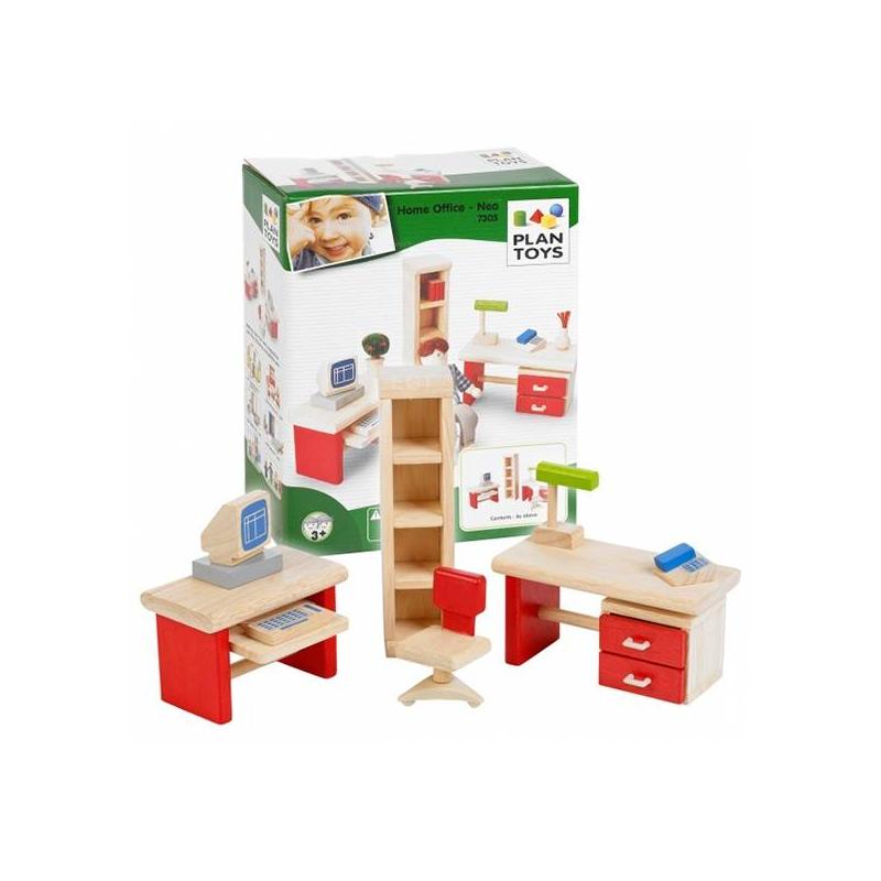 Мебель для кукол Для офисаМебель для кукол Для офиса маркиPlan Toys.<br>Таиландская фирма Plan Toys производит качественные игрушки, которые не только способствуют быстрому и гармоничному развитию ребенка, но и доставляют ему много радости. Все игрушки Plan Toys производятся из качественных нетоксичных материалов, безопасных для ребенка.<br>В этом наборе есть два письменных стола, компьютер, офисный стул и шкаф для бумаг. Все предметы кукольного интерьера сделаны из каучукового дерева и окрашены яркими красками.<br><br>Возраст от: 3 года<br>Пол: Для девочки<br>Артикул: 634693<br>Бренд: Таиланд<br>Размер: от 3 лет<br>Материал: Дерево