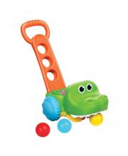 Игрушка-каталка Крокодил с мячиками B kids