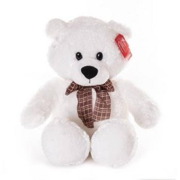 Медведь белый сидячий 53 см