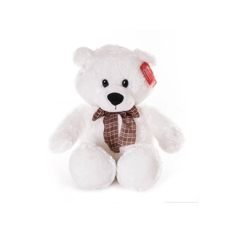 Медведь белый сидячий 53 смМягкая игрушка Медведь белый сидячий 53 см. маркиAurora.<br>Этот плюшевый медвежонок отличается превосходным качеством и способствует развитию у детей воображения и тактильной чувствительности. К тому же внутри игрушки имеютсяплacтмaccoвыe гpaнулы, которые помогают лучшеразвивать тактильные навыки. Игрушка сделана из безопасных для детей материалов (гипоаллергенные плюш и синтепон).<br><br>Возраст от: 3 года<br>Пол: Не указан<br>Артикул: 633887<br>Бренд: Южная Корея<br>Размер: от 3 лет