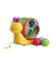 Игрушка Веселая улитка на веревочке B kids