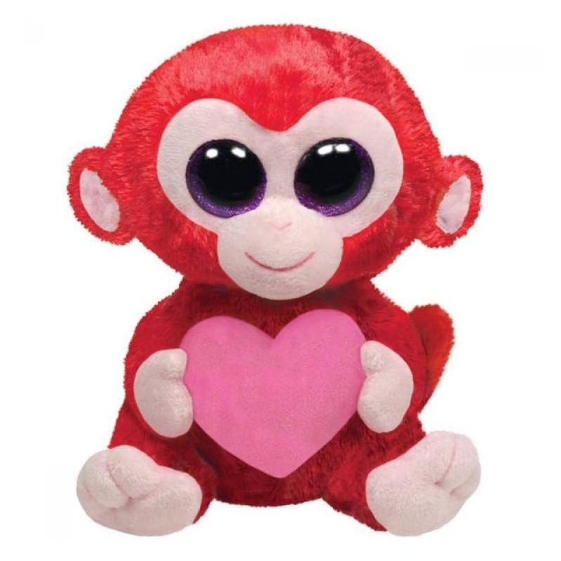 Обезьянка CharmingМягкая игрушка Обезьянка Charming серии Valentines Day марки TY.<br>В зоопарке ребенка невозможно оторвать от вольера с веселыми обезьянками? Он просит взять домой одну из этих проказниц? Подарите ему плюшевую обезьянку Charming. Она обязательно понравится малышу.<br>Игрушка сделана в ярких тонах, что помогает развивать зрительное восприятие и ассоциативное мышление ребенка. Игра обязательно должна быть не только веселой, но и развивающей. ОбезьянкаCharming идеально подходит для этого.<br><br>Возраст от: 3 года<br>Пол: Для девочки<br>Артикул: 633285<br>Бренд: Китай<br>Размер: от 3 лет