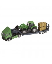 Фермерский грузовой автомобиль с трактором