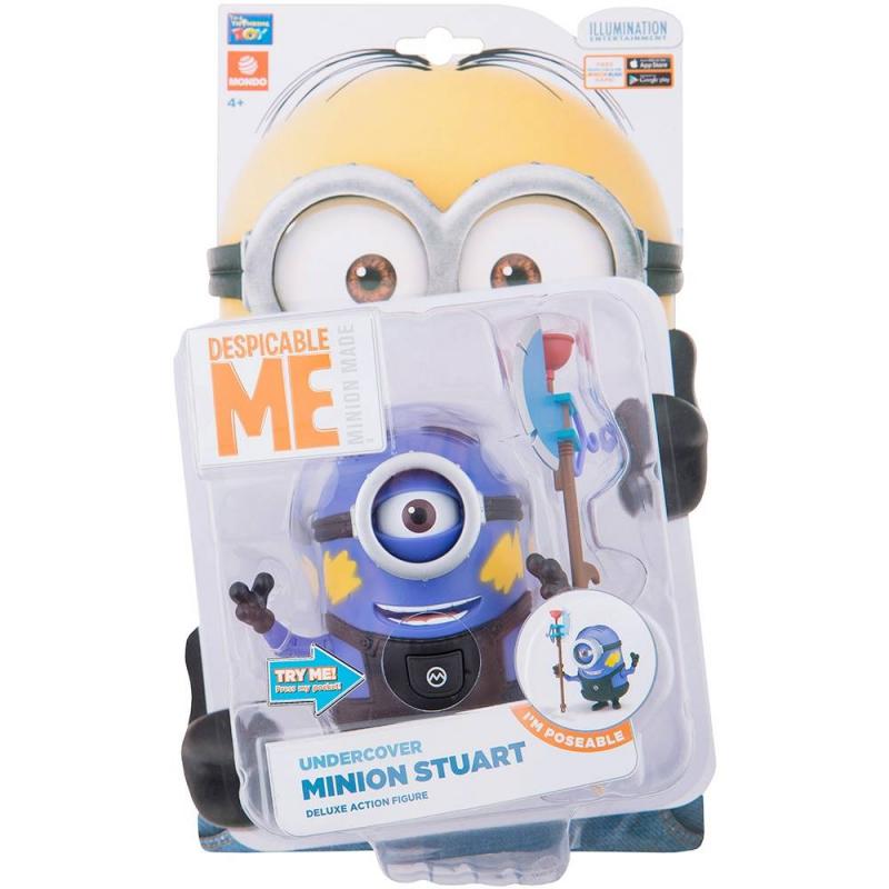 Интерактивная игрушка Миньон Стюарт в камуфляже
