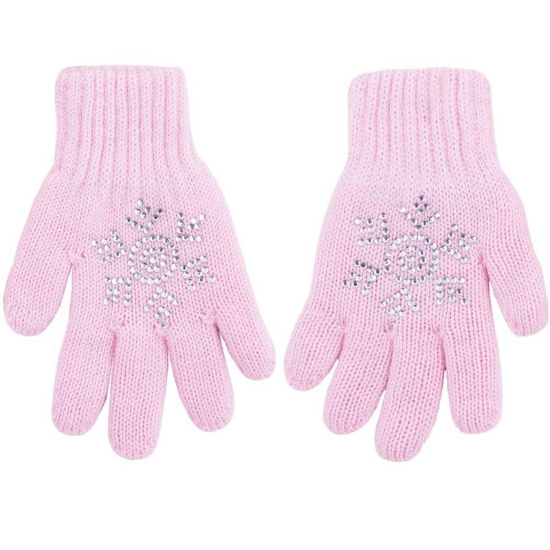 ПерчаткиПерчатки розовогоцвета марки R&amp;I длядевочек.<br>Мягкие и теплые перчатки бережно защитят руки малыша от ветра и снега. В двойных перчатках из натуральной шерсти тонкорунного мериноса можно смело играть в снежки, гулять по морозу или сильному ветру. Изделия от бренда R&amp;I производятся по технологии бесшовной вязки.<br>Стильные перчаткиукрашены аппликацией из страз в виде снежинки. Эластичные манжеты не позволят им потеряться, а особая вязка гарантирует практичность и прочность изделия.<br><br>Размер: 3 года<br>Цвет: Розовый<br>Размер: 11<br>Пол: Для девочки<br>Артикул: 637891<br>Страна производитель: Киргизия<br>Сезон: Осень/Зима<br>Состав: 100% Шерсть<br>Бренд: Киргизия