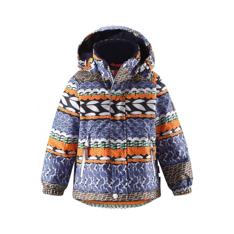 КурткаКуртка синегоцвета с рисунком марки REIMAдля мальчиковвыполненаиз прочного водо- и ветронепроницаемого дышащего материала с грязеотталкивающей обработкой.Мембрана свыше 10000 мм.Материалдышит, обеспечивая комфортную температуру и сухость.<br>Гладкая подкладка из полиэстера позволяет легко надевать куртку.Внешние швы проклеены, водонепроницаемы. Безопасный капюшон на кнопках легко отстегивается. Низ куртки регулируется резинкой со стопперами для идеальной посадки, манжеты на резинке. Куртка имеет два кармана на молнии на поясе. Застегивается куртка на молнию и липучки. Куртка оснащена множеством светоотражающих элементов для безопасности ребенка в темное время суток.<br>Куртка не теряет своих свойств при многократной стирке в стиральной машине, быстро сохнет. Также за ней можно ухаживатьс помощьювлажной губки.<br><br>Размер: 8 лет<br>Цвет: Синий<br>Рост: 128<br>Пол: Для мальчика<br>Артикул: 637715<br>Страна производитель: Китай<br>Сезон: Осень/Зима<br>Состав верха: 100% Полиэстер<br>Состав подкладки: 100% Полиэстер<br>Бренд: Финляндия<br>Наполнитель: 100% Полиэстер<br>Покрытие: Полиуретан<br>Температура: до -20°<br>Вес утеплителя: 160 г